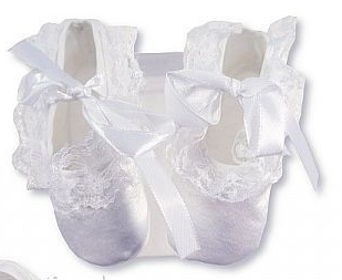 Girl's Satin Booties