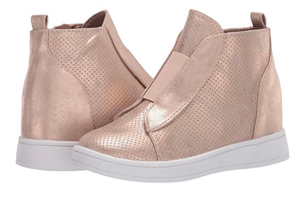 Rose Gold Wedge Shoes