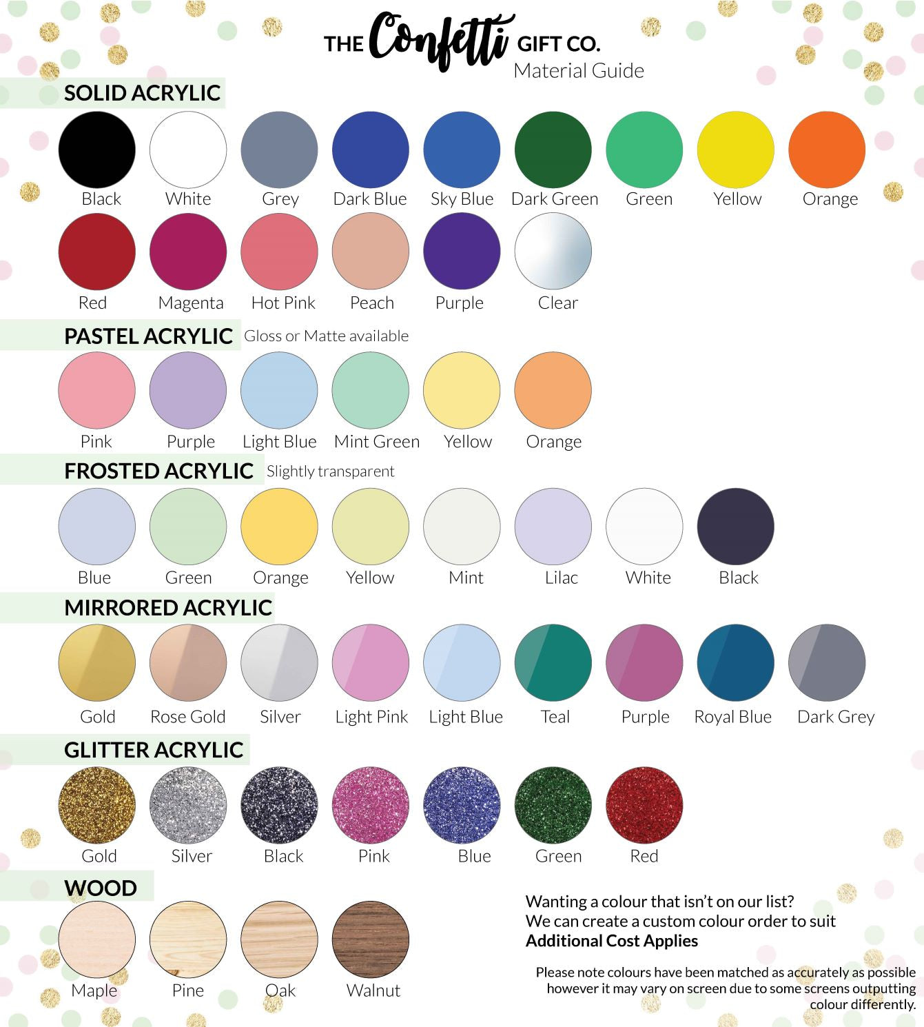 Material Colours