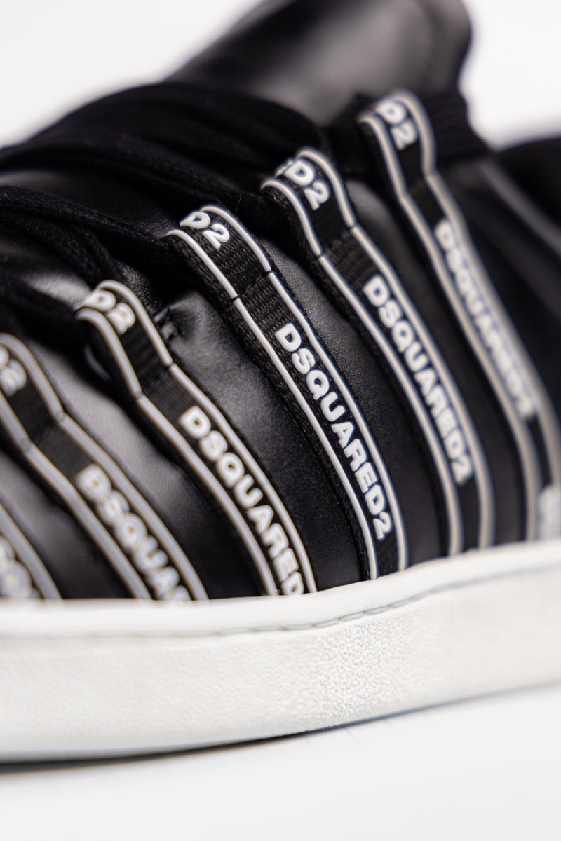 Dsquared2 Logo Stripe Sneakers - Brands Off - Buy Online Luxury Clothing - Fashion Online Shop - Outlet Price