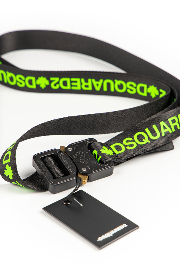 Double Logo Ribbon Belt