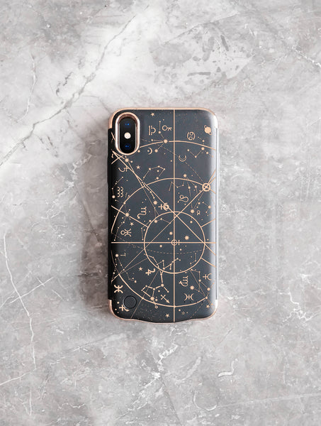 gold and black matte iphone xs battery case