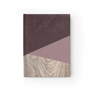 Amber Pink Wood Journal - Blank