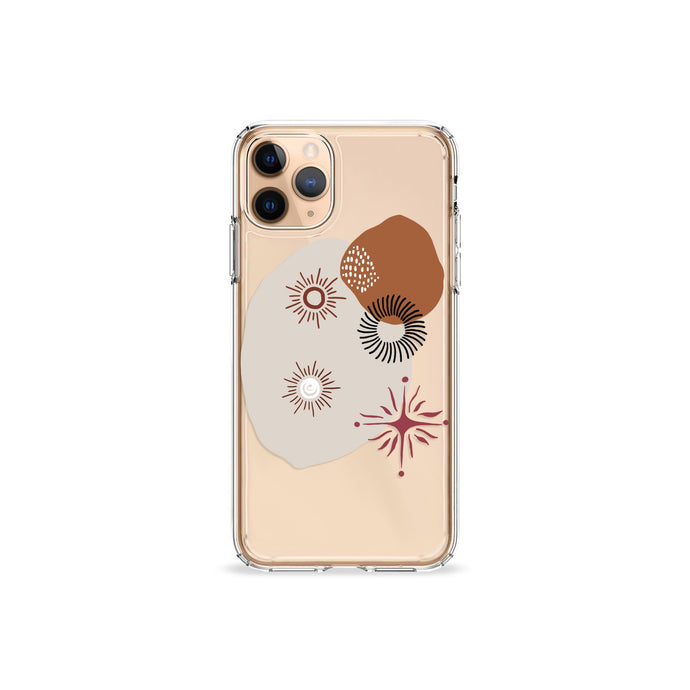 Abstract Suns Agate iPhone 11 Recycled TPU Clear Case Gold