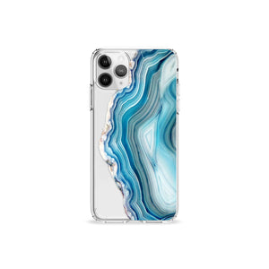 Agate iPhone 11 Recycled TPU Clear Case Silver