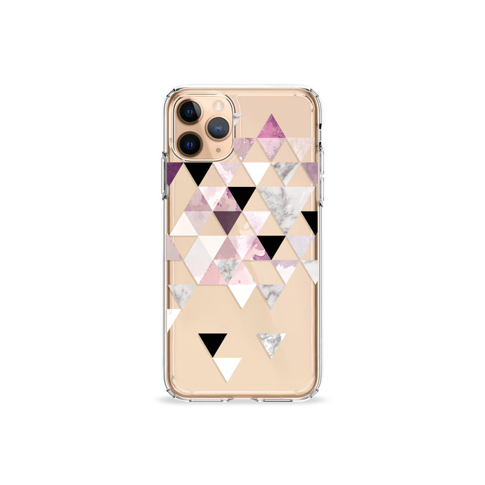 Amaranth Marble Clear iPhone Case