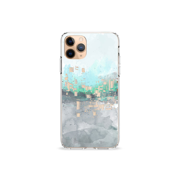 Aqua Paint Clear iPhone Case
