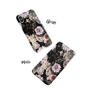 Dark Floral Snap iPhone Case - bycsera