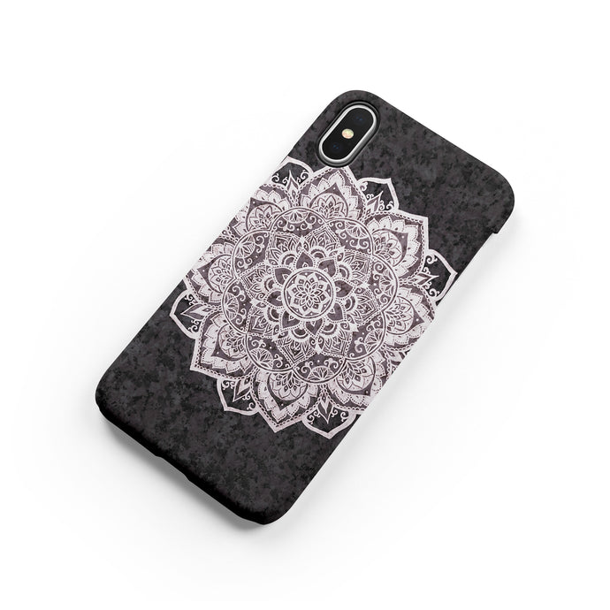 Charcoal Mandala iPhone Case - bycsera