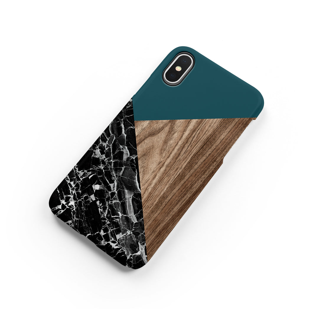 Forest Green Snap iPhone Case