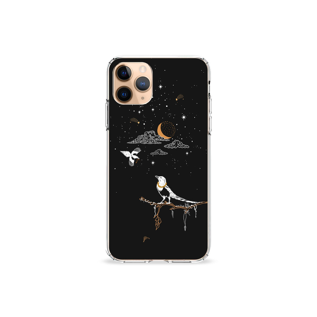 Magpie Jewelry Tree Clear iPhone Case,CSERA