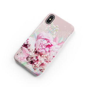 Peony Love Snap iPhone Case