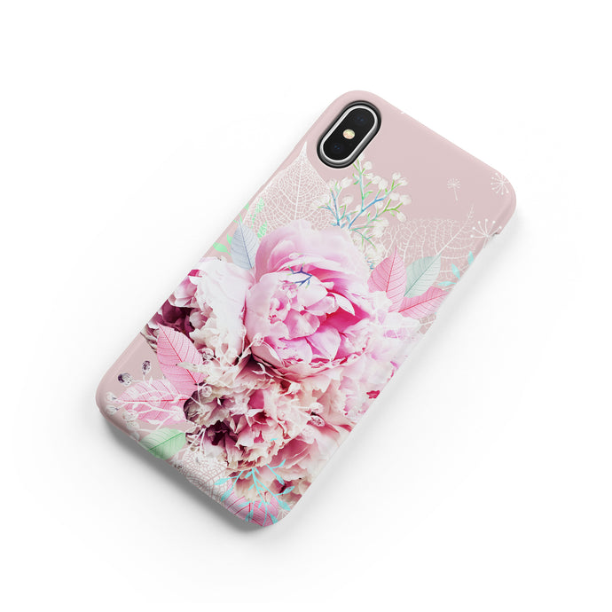 Peony Love Snap iPhone Case - bycsera