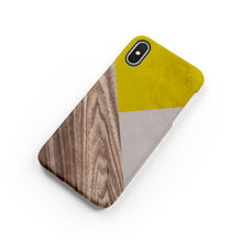 Load image into Gallery viewer, Mustard Wood Snap iPhone Case