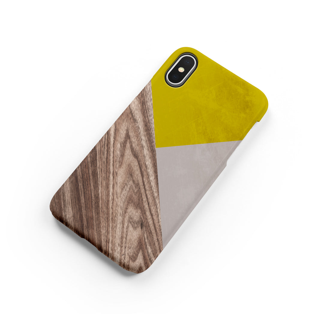 Mustard Wood Snap iPhone Case