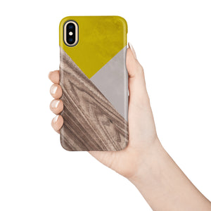 Mustard Wood Snap iPhone Case - bycsera