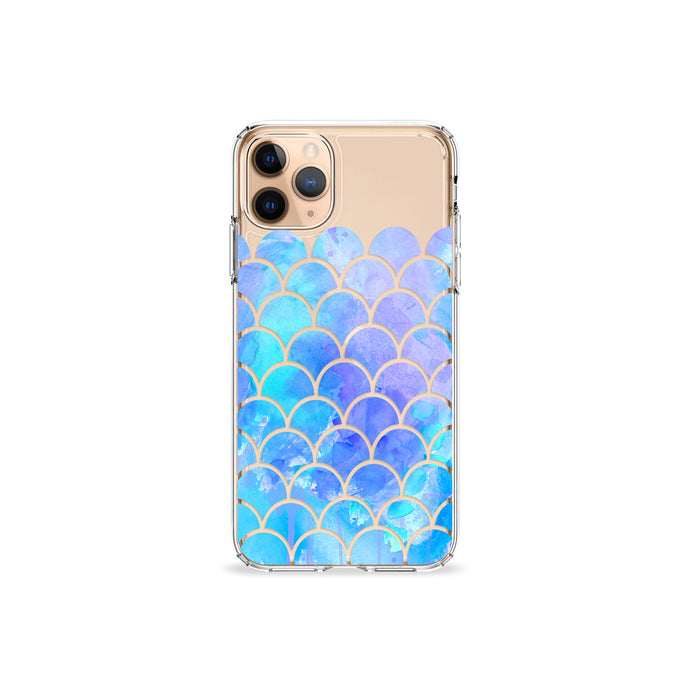 Blue Mermaid Clear iPhone Case