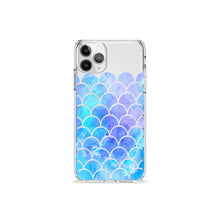Load image into Gallery viewer, Blue Mermaid Clear iPhone Case