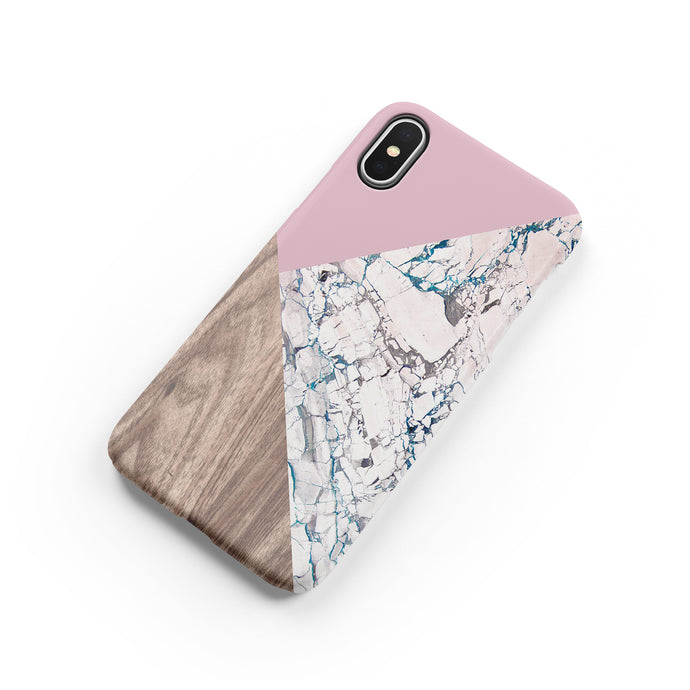 Rosa Aurora Marble Snap iPhone Case - bycsera