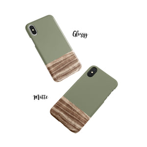 Army Green Snap iPhone Case