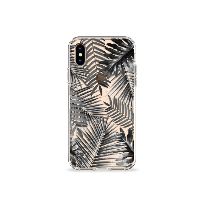Silver Palms Clear iPhone Case,CSERA
