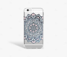 Load image into Gallery viewer, Navy Mandala iPhone Case - Bycsera