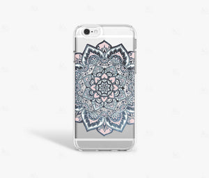 Navy Mandala iPhone Case - Bycsera