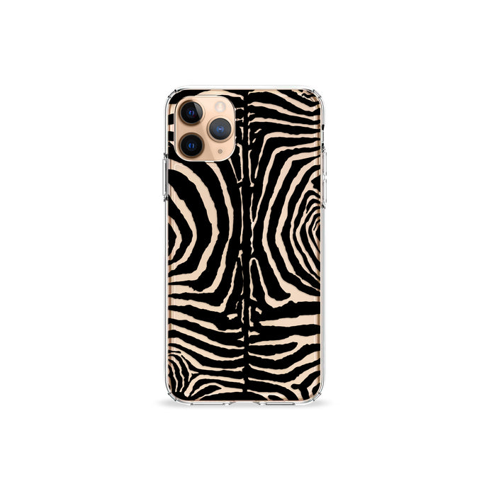 Black Zebra Clear iPhone Case