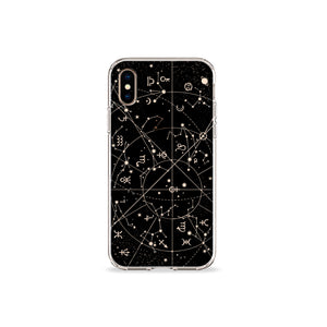 Dawn Constellations Clear iPhone case,CSERA