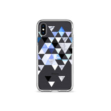 Load image into Gallery viewer, Indigo Geo Clear iPhone Case,CSERA