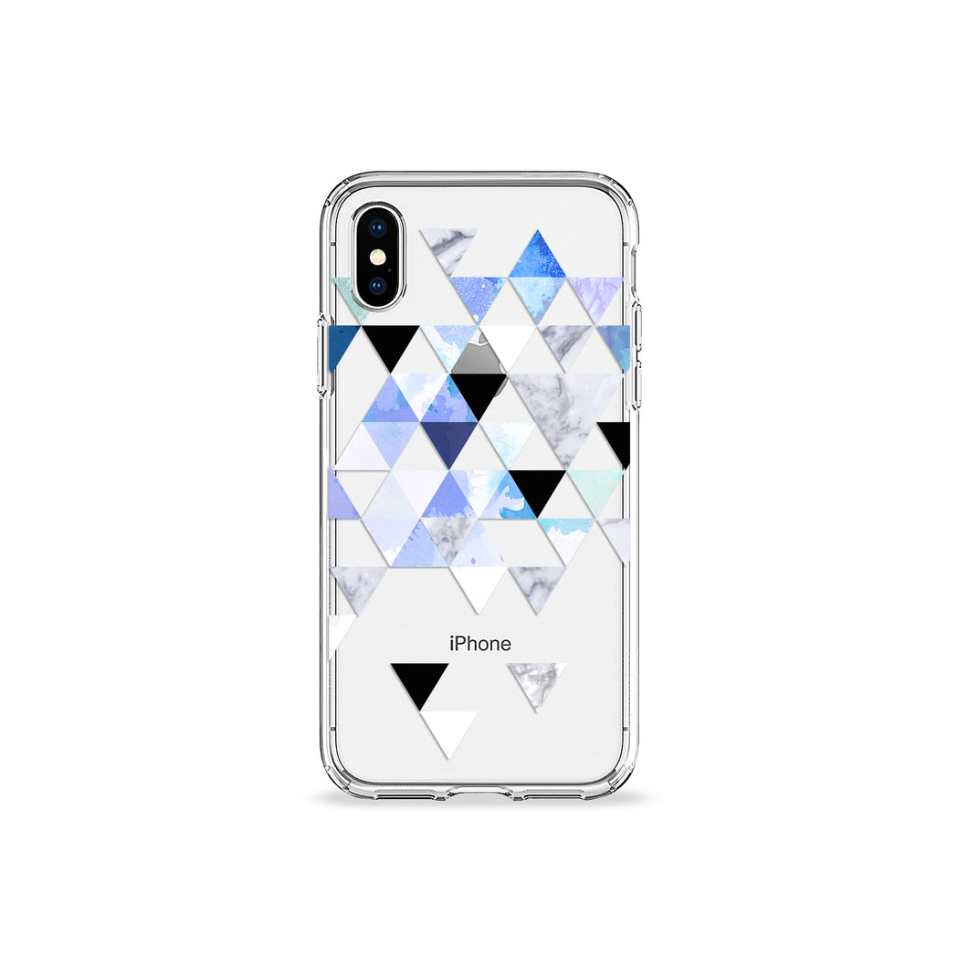 Indigo Geo Clear iPhone Case,CSERA