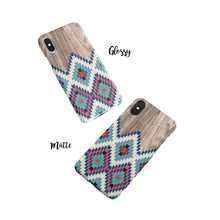 Load image into Gallery viewer, Blue Southwestern Snap iPhone Case - bycsera