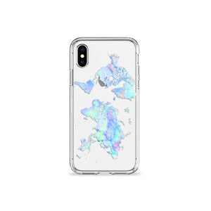 Big Blue Marble Clear iPhone Case - bycsera