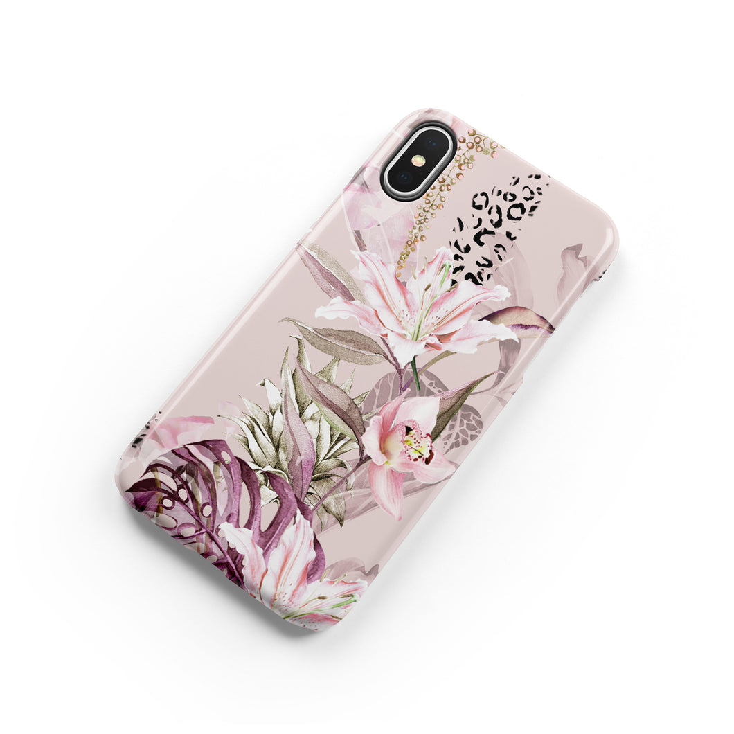 Leopard Lily Snap iPhone Case