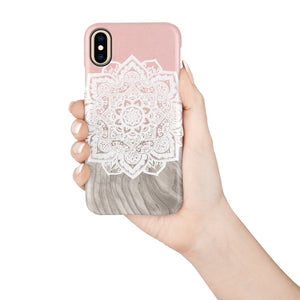 Beige Mandala Snap iPhone Case - bycsera