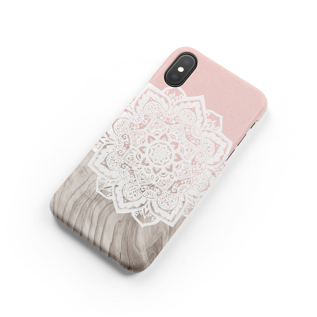 Beige Mandala Snap iPhone Case,CSERA