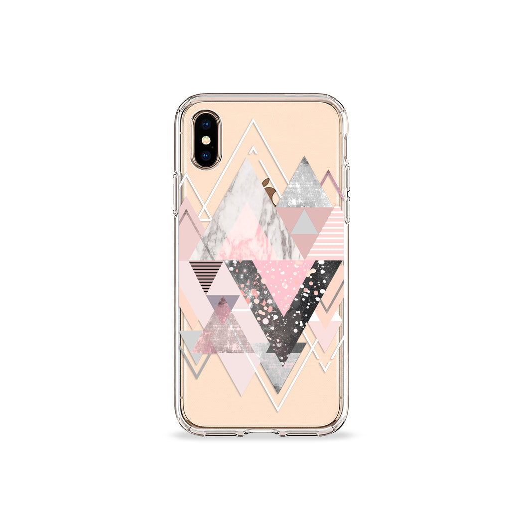 Marble Blush Clear iPhone Case,CSERA