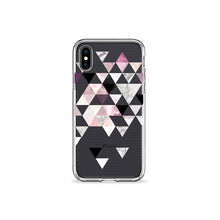 Load image into Gallery viewer, Amaranth Marble Clear iPhone Case in black