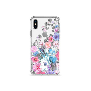 Eternity Blue Clear iPhone Case