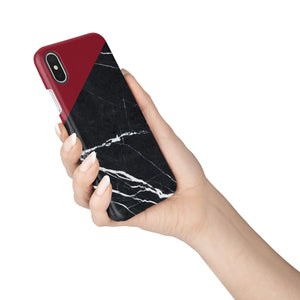 Carmine Marble Snap iPhone Case - bycsera