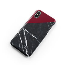 Load image into Gallery viewer, Carmine Marble Snap iPhone Case - bycsera