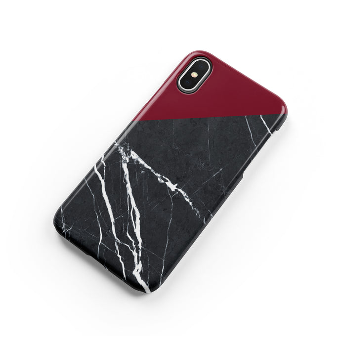 Carmine Marble Snap iPhone Case,CSERA