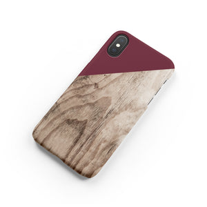 Maroon Snap iPhone Case - bycsera