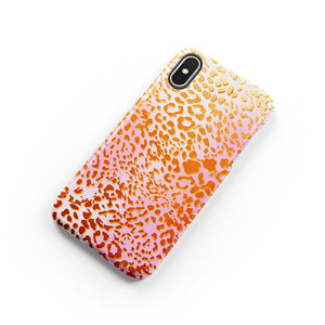 Apricot Leopard Snap iPhone Case - bycsera