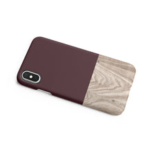 Load image into Gallery viewer, Brown Granite Wood Snap iPhone Case