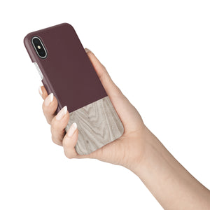 Brown Granite Wood Snap iPhone Case - bycsera