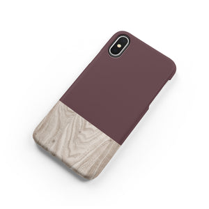 Brown Granite Wood Snap iPhone Case