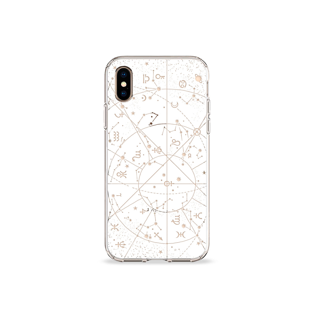 Constellations Clear iPhone Case,CSERA