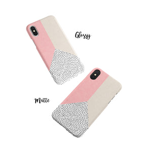 Coral Polka Snap iPhone Case - bycsera
