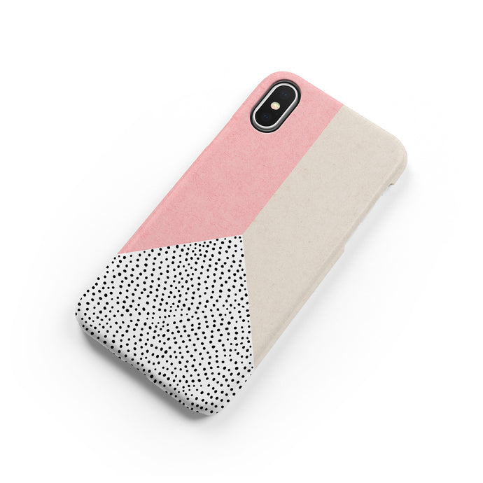 Coral Polka Snap iPhone Case,CSERA
